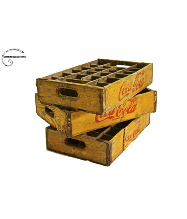 Coca-Cola wooden boxes.