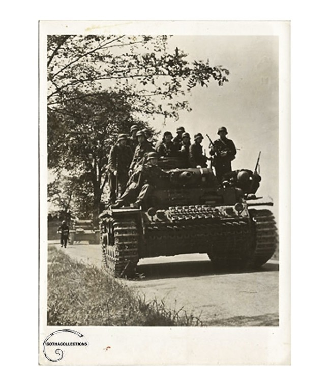 2nd. World War photography. German Panzer.