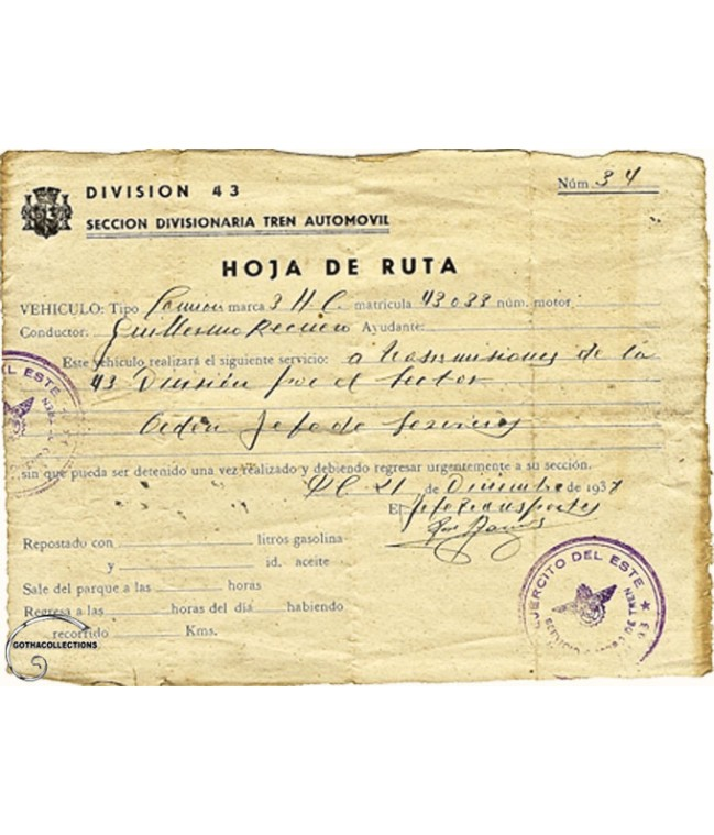 Hoja de Ruta Republicana, Guerra Civil.