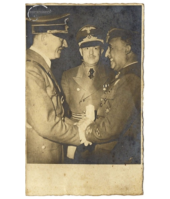 Franco and Hitler picture in Hendaye.