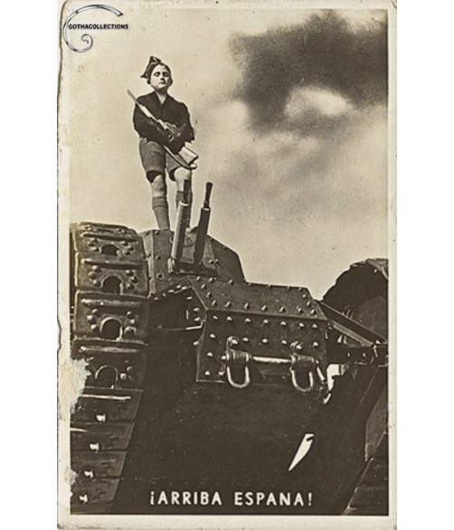 Spanish ¨Balilla¨ over a Tank Renault FT-17.
