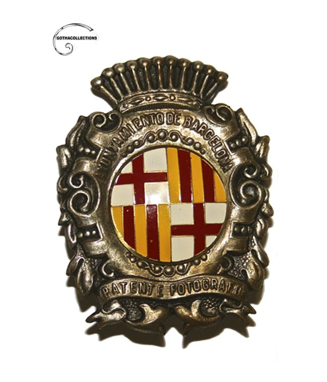 Photographer´s badge from Barcelona Town Hall.