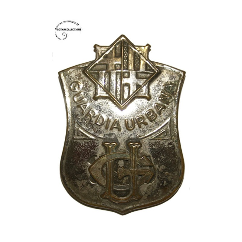 Guardia Urbana Of Barcelona Agents Chest Badge Reused Spanish