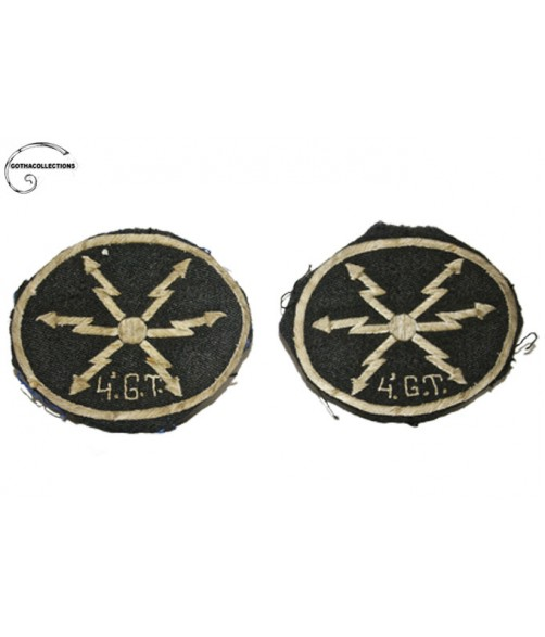 Spanish embroidery Emblems. 4th Regiment of Aviation Transmissions.