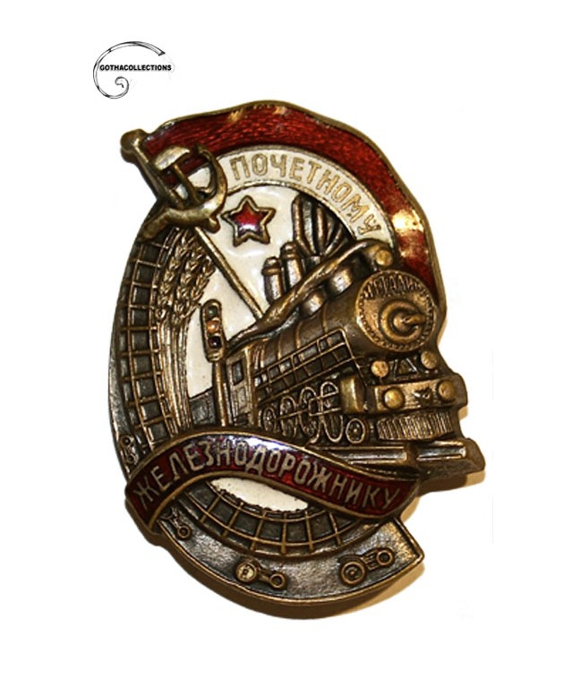 ¨Honored Worker of Railway¨ Badge. Silver brass plated.